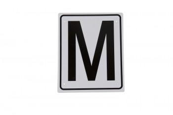 Bahnbuchstaben Kunststoff zum Anschrauben