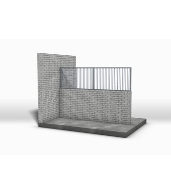 Aufsatzgitter für gemauerte Wände