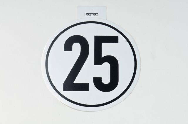 Aufkleber 25 kmh