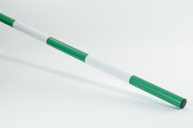 Hindernisstange aus Kunststoff Grün / Weiß